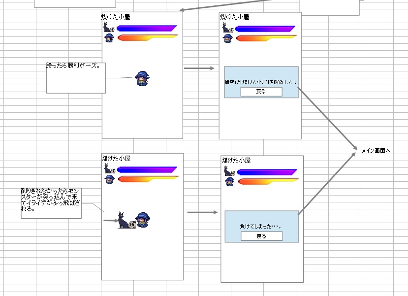 イライザのゴールドラッシュ_画面設計2-3