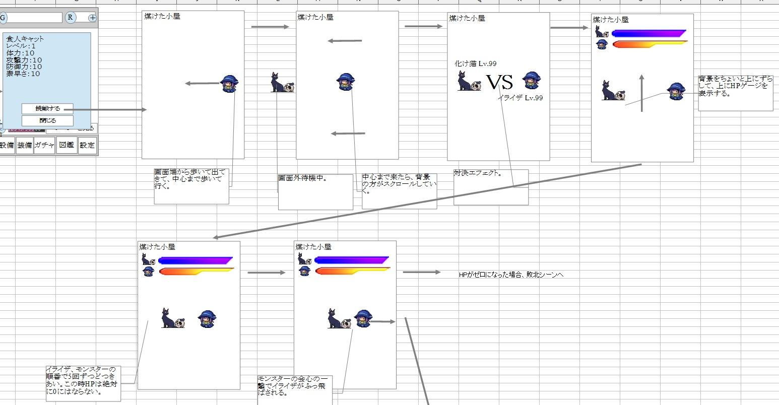 イライザのゴールドラッシュ_画面設計2-1