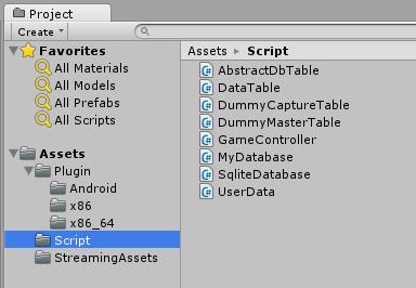 Unity SQLite Script